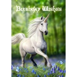 Anne Stokes Birthday Card 6 Pack - Unicorn